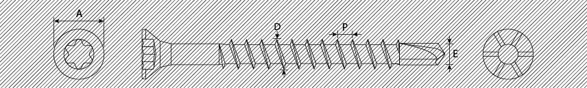 Viti per pannelli truciolari TSP TX testa ridotta con alette svasanti autoperforanti