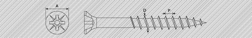 Viti per pannelli truciolari TSP PZ testa ridotta filetto parziale
