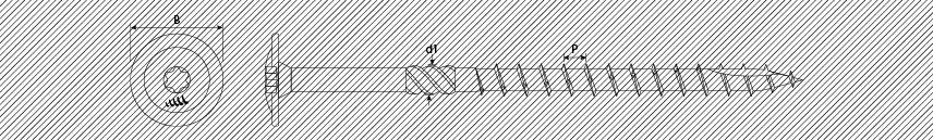Tornillos para carpintería cabeza ancha TX punta type 17