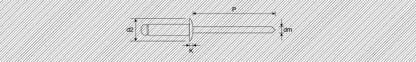 Rivetti tipo aperto a strappo testa tonda alluminio/acciaio