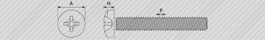 Viti metriche testa cilindrica PH