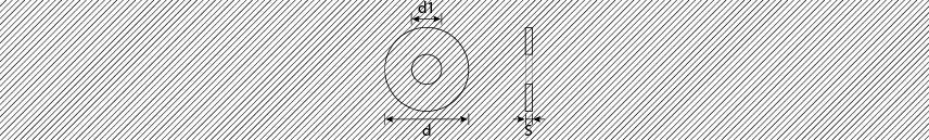 Rondelle piane fascia larga 3 volte diametro