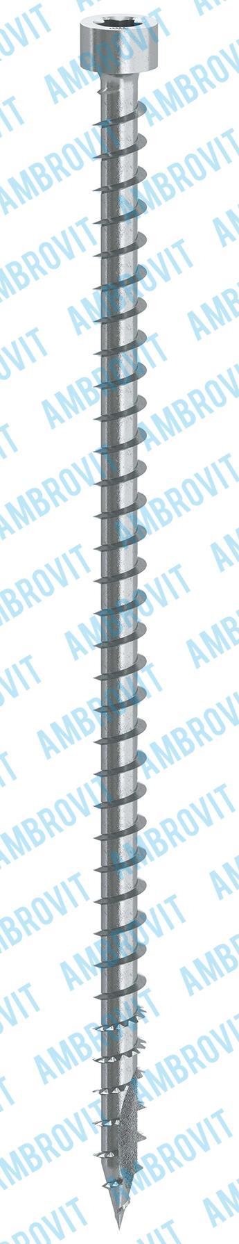 Tornillos para carpintería cabeza cilíndrica TX rosca total y punta type 17 dentada